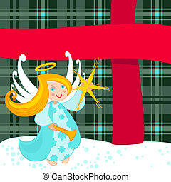 大きい, 天使, クリスマスプレゼント