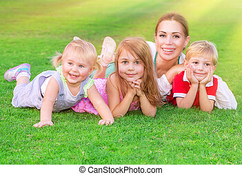大きい, 家族, 幸せ
