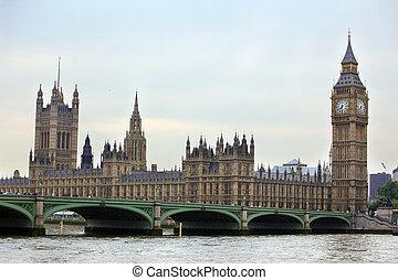 大きい, 建築, gothic, イギリス, ロンドン, ベン