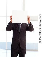 大きい, 彼の, カード, 前部, ビジネス, 保有物, 人の表面