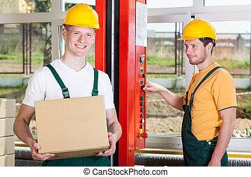 大きい, 従業員, 工場, 仕事
