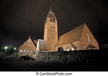 大きい, 教会, 中に, gothenburg, スウェーデン