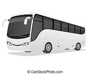 大きい, 旅行, ベクトル, イラスト, バス
