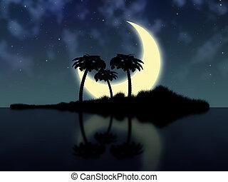 大きい, 月, そして, 島