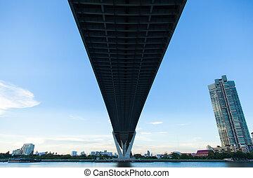 大きい, 橋, 上に, river.