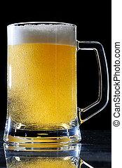 大きい, 泡, ビールガラス