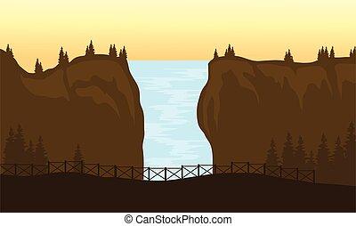 大きい, 滝, 光景