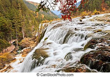 大きい, 滝, jiuzhaigou