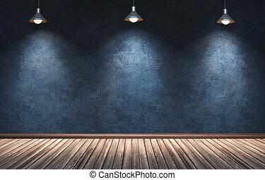 大きい, 現代部屋, ∥で∥, 3, 掛かること, lamps.