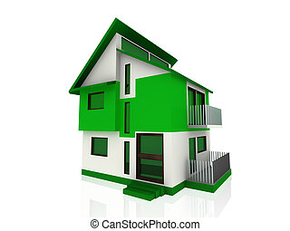 大きい, 現代, 家, 緑