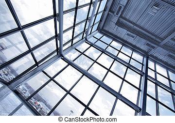 大きい, 産業, 窓, 建物