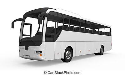 大きい, 白, 旅行 バス