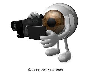 大きい, 目, ブラウン, videomaker