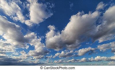 大きい, 空, 劇的, 雲, 背景