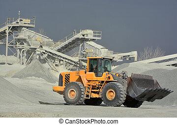 大きい, 鉱山トラック, 黄色