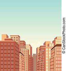 大きい, 風景, 都市