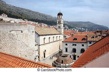 大きい, dubrovnik, onofrio, 修道院, 噴水, franciscan