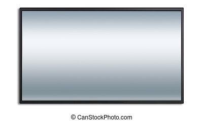 大きい, led 表示, ∥で∥, 灰色, スクリーン