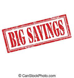大きい, savings-stamp