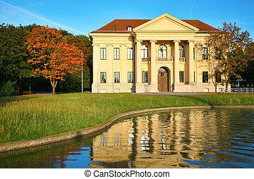 大厦, reservoir., munich., germany.