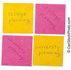大学, そして, 大学, 計画