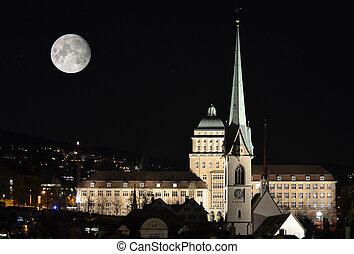 大学, チューリッヒ, 夜