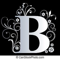 大寫字母, b