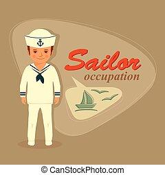 大尉, 船員, 漫画