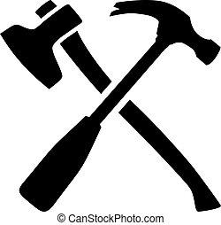ロゴ 道具 大工 ありなさい 使われた 広場 ハンマー 大工