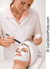 大広間, 女, 美しさマスク, -, 美顔術