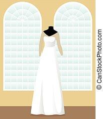 大広間, 服, マネキン, a-line, 結婚式