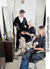 大広間, client's, 美容師