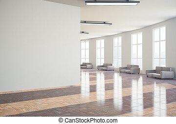 大廳, 由于, 空白的牆