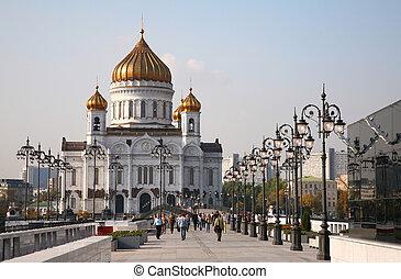 大教堂, 在中, christ, the, 救星, 在中, 莫斯科