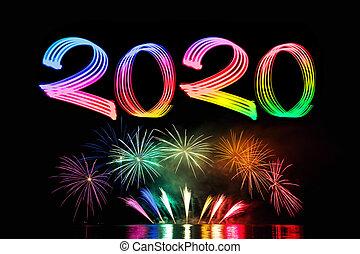 大晦日, 2020, 花火