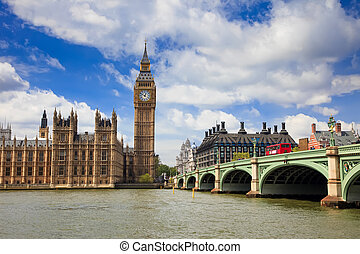 大本鐘, 以及, 議會的房子, 倫敦