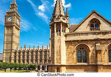 大本鐘, 以及, 議會的房子, -, 倫敦, 英國