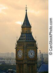 大本鐘, 以及, 議會的房子, 倫敦, 英國