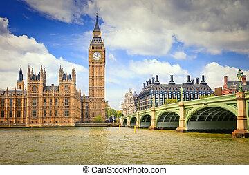 大本鐘, 以及, 議會的房子