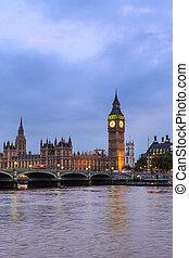 大本鐘, 以及, 議會, 倫敦, 英國