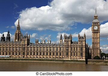大本鐘, 以及, the, 議會, 倫敦, 英國