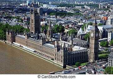 大本鐘, 以及, the, 議會, 在, 倫敦, 英國