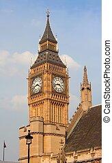 大本鐘, 在, the, 議會的房子, 威斯敏斯特宮殿, 倫敦, 英國
