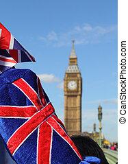 大本鐘, 由于, 旗