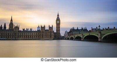 大本鐘, 議會, 威斯敏斯特 橋梁, 長的暴露,