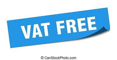 大桶, 無料で, 隔離された, 印。, 広場, ラベル, sticker.