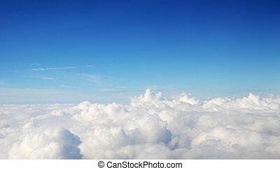 大氣, -, 天空, 以及, 云霧, 背景