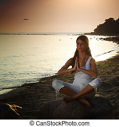 大海, 瑜伽, 日出