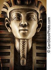 大理石, 像, tutankhamun