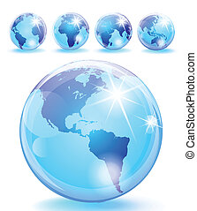 大理石, 光景, 惑星, 5, グロッシー, 地球